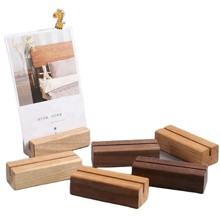 Fancy design high quality square wooden business card calender base
