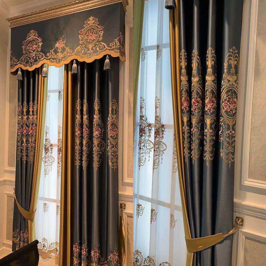 Luxury European-style curtains, living room curtain cloth, shading finished products custom home room curtains