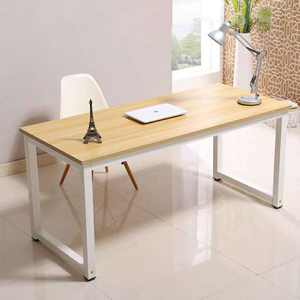 strong school/office wooden computer desk with iron legs
