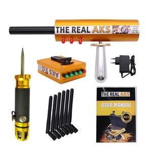 The Real AKS 6 Antennas Plastic Case Long Range Gold Detector for Silver Gem Diamond Golden + Filter