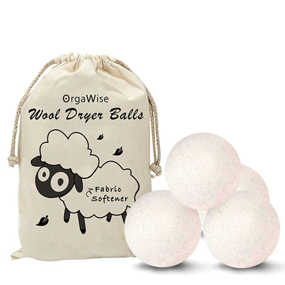 100% Organic Zealand Dryer Reusable Natural Fabric Softener Healthy Laundry Life 4pack XL wool dryer balls