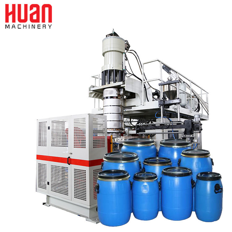 50L to 60l open top blue drum hdpe pe chemical barrel extrusion blow molding making machine