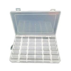 Kunststoff abnehmbare 36 slots storage box container