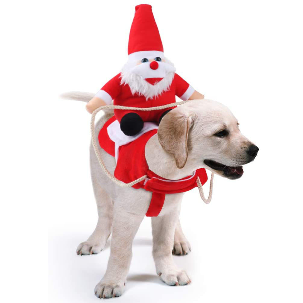 LINK-TO Amazon hot sale custom designer pet christmas holiday large dog costumes clothes hat
