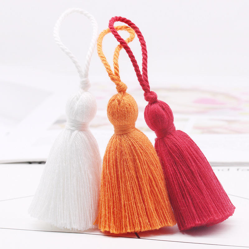 Cotton Tassel 8センチメートルHanging Rope Fringe TasselためSewing Curtains Garment Home Decoration Jewelry Craft Accessories