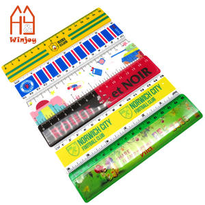 Wholesale and custom 15cm&6 inch plastic straight ruler with 4C logo printing for school & office,advertising promotional ruler