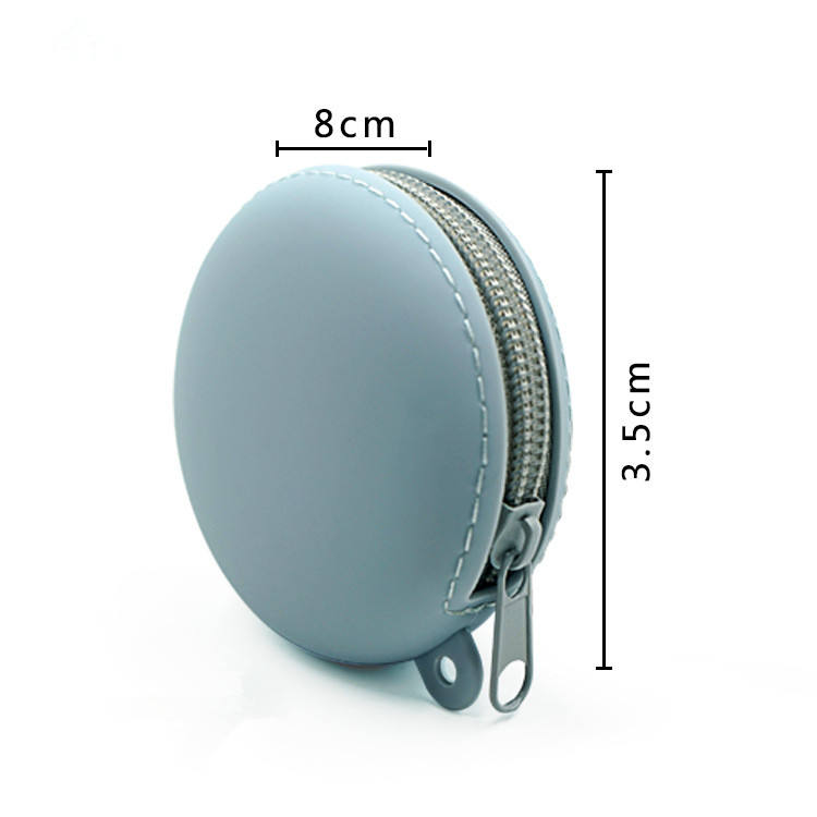 New Style Custom Small Rubber Coin Pouch Kids Luxury Designer Wallet Keychain Zipper Round Clear Cute Mini Silicone Coin Purse