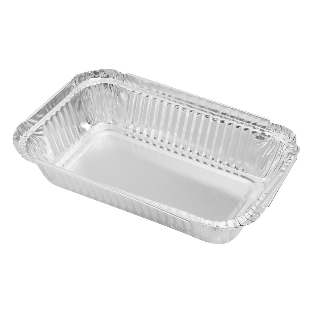 No.6a aluminum foil containers disposable pan trays with paper lid plastic cover
