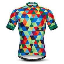 Wholesale Men Cycling Jersey Polyester Mountain Bike Jersey Short Sleeve Quick Dry Cycling Shirt Road mtb Bicycle Clothing Green