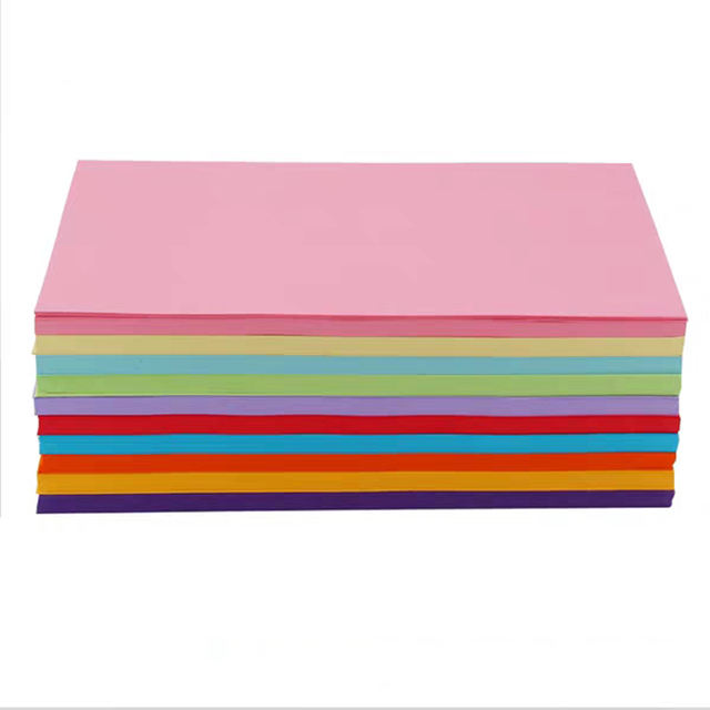 Office Uncoated Color Paper 70gsm,80gsm,120gsm,160gsm,180gsm,220gsm Origami Paper