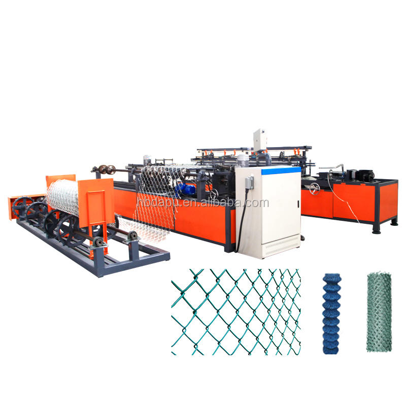 PLC controller chain link fence netting machine