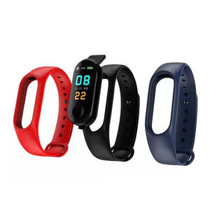 Terbaru 2019 Shenzhen Hot Sale M3 Smartwatch Kunci Plastik Gelang Gelang USB Gelang LED Android Sport M3 Smart Watch