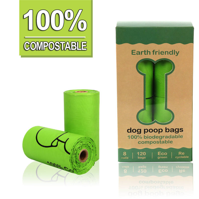 Downtown Pet Supply Dog Pet Waste Poop Bags, 120 Bags/Roll