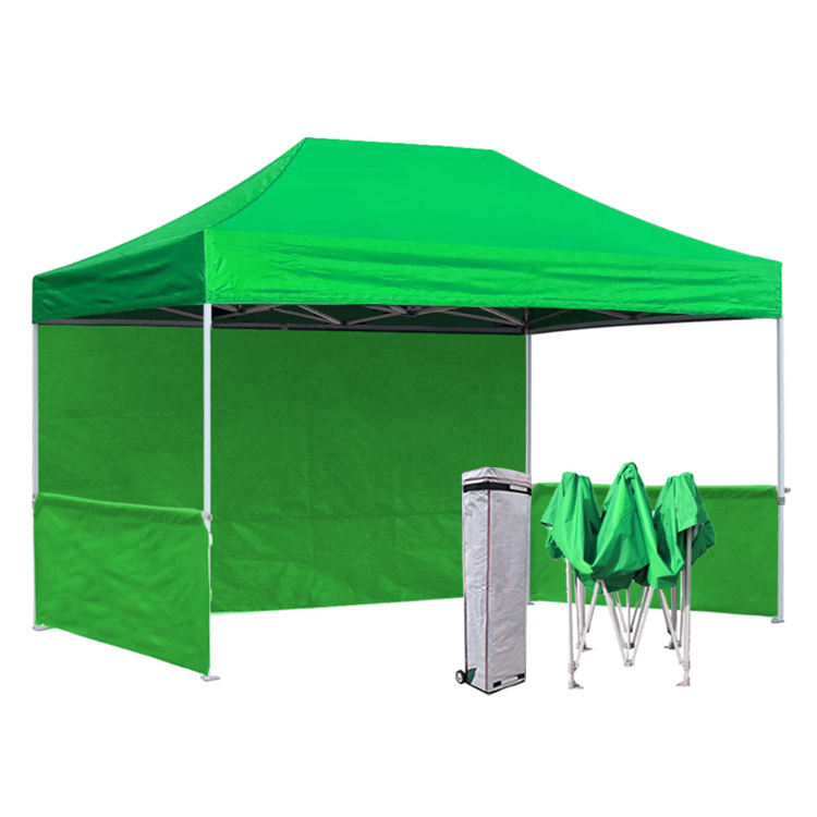 Amazon best-seller personnalisé couleurs gazebo 3x4.5 pop up tente auvent en plein air tente de salon commercial