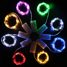 CR2032 1M 10 leds Micro decoration Copper Wire Ultra Thin Rope Light Battery Operated micro led lights