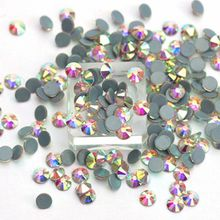 Hot Fixing Crystals Design High Quality Gray Back SS16 Hotfix Ab Rhinestone For Clothes
