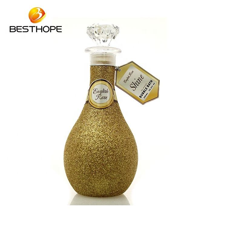 promotional shine bottle rose perfume 395Ml bubble bath Wholesale