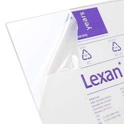 "Lexan Sheet - Polycarbonate - .236"" - 1/4"" Thick, Clear, 12"" x 24"" Nominal"