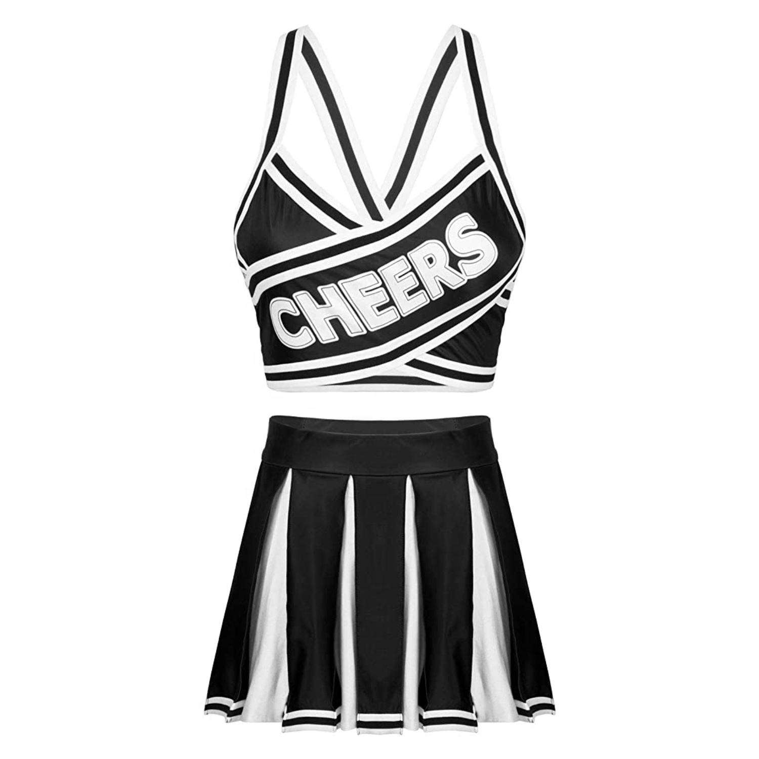 Oem Gratis Custom Design <span class=keywords><strong>Cheerleading</strong></span> Sport Teams Sublimatie Uniform Set
