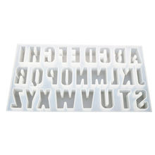 Enlarge 26 English Reverse letter mold,Birthday cake chocolate letter mold logo,reversed alphabet mold Key chain