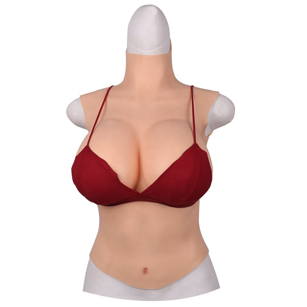 C/D/E/G Cup Breast Forms Half Bodysuit Silicone Boobs for Crossdressers Big Silicone Boobs Drag Queen Transgender