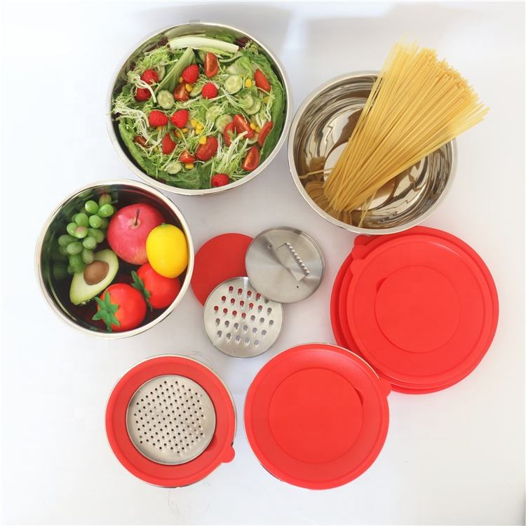 Kitchen Accessories Dinnerware Stainless Steel Mixing Bowls With Lids
