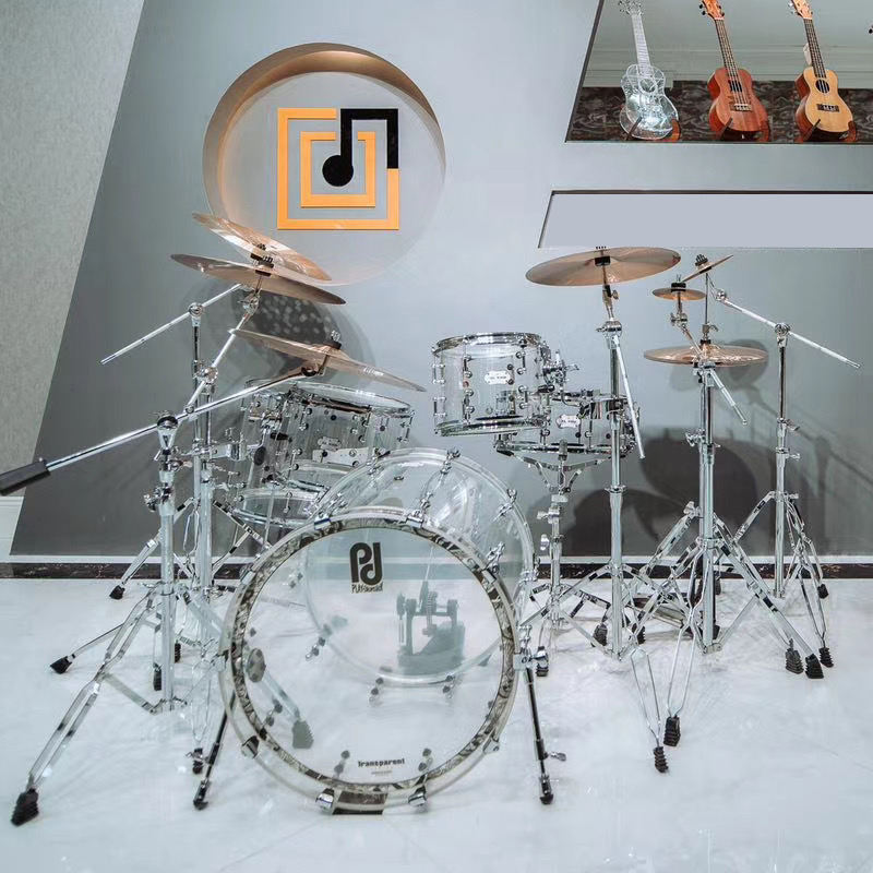 Professional design best quality acoustic rock acrylic drum set for sale
