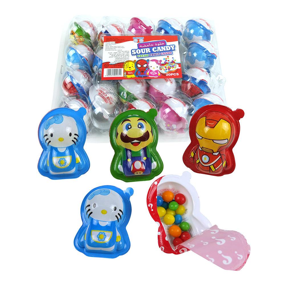 Divertente Giocattolo Per Bambini Candy varietà di stile del fumetto di Plastica colorato con aspro Della Caramella