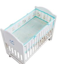 high quality 3d breathable mesh baby bed bumper in bedding set