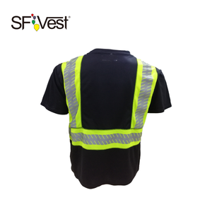 Worker Reflective baumwolle tshirt herren custom printed tshirts flat stitching contrasting color t shirt