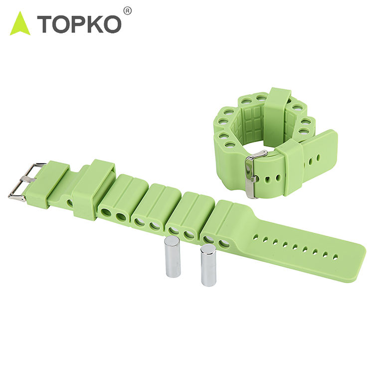 TOPKO hot selling new design silicone adjustable 1kg 2kg ankle wrist weights set