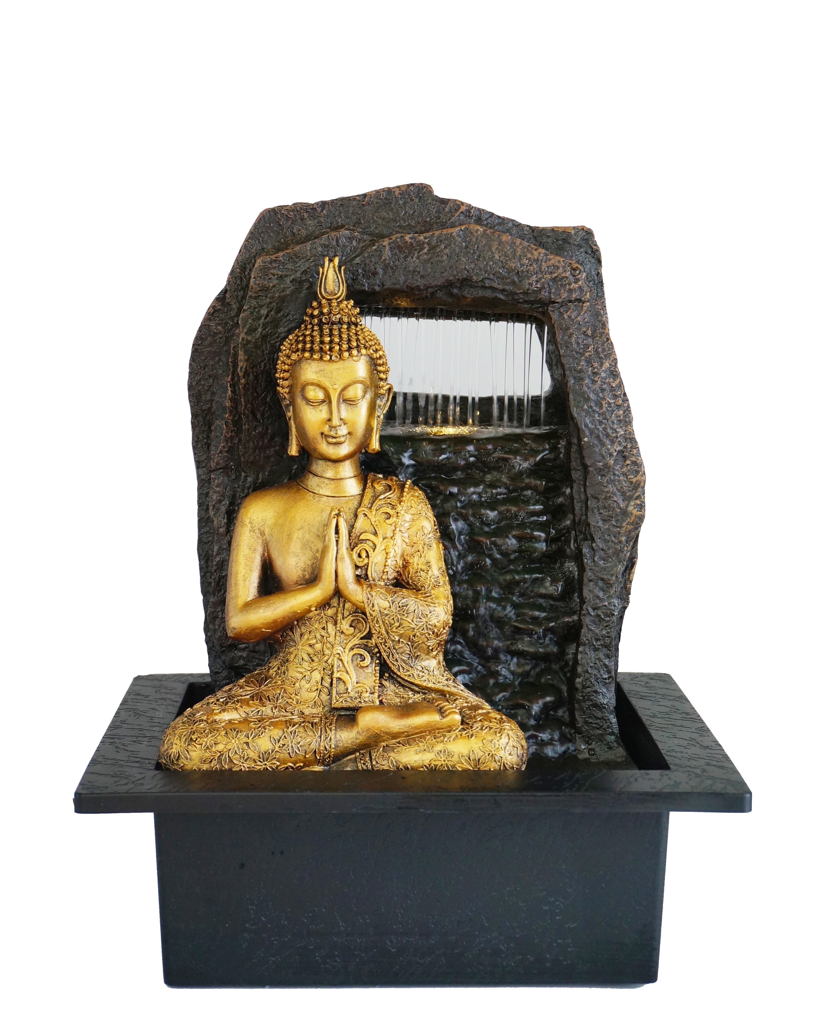 Religious Resin Fountain Handicraft Crafts Indoor Water Fountain with LED Lighted