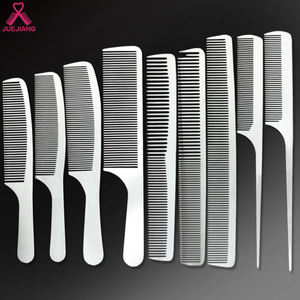 Wholesale Custom Logo Barber Hairdressing Salon Stainless Steel Metal Rat Tail Pin Hair Cutting Comb