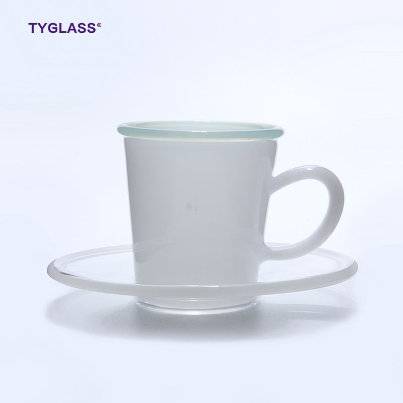 Logo Customization [ Cup Saucer ] Sell Well Hot Product Glass Cup With Saucer Hand Blown Heat Resistant Glass Coffee Cup
