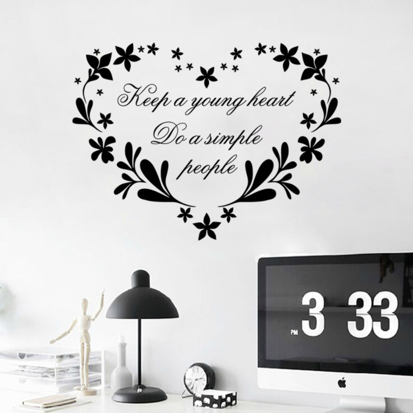 English Words Home Fashion Decorative Wall Stickers For Living Room and kids room Butterfly Waterproof wall sticker