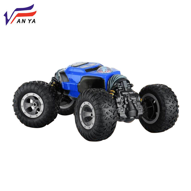 Newest radio control toys 360 stunt rolling twisting climbing car double sided handle control extreme stunt rc car toy for kids