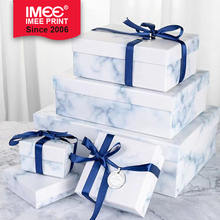 IMEE Gift box high-end large exquisite simple marble boy's birthday gift box