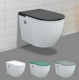 Water saving smart wc Intelligent P-trap toilets ceramic smart wall hung mounted toilet