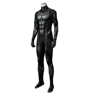 In Stock Cosplayer Black Panther Costume Set Cosplay Jumpsuits For Man