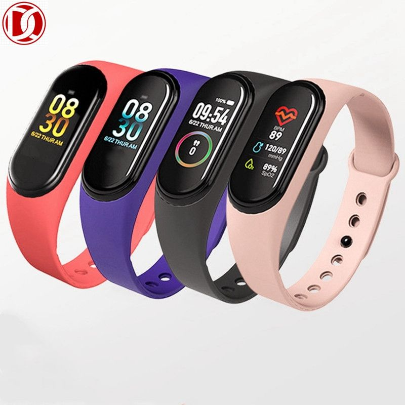 2020 Real smart watch heart rate m4 smart band IP67 Water proof 0.96 inch color touch screen sport smart watch band