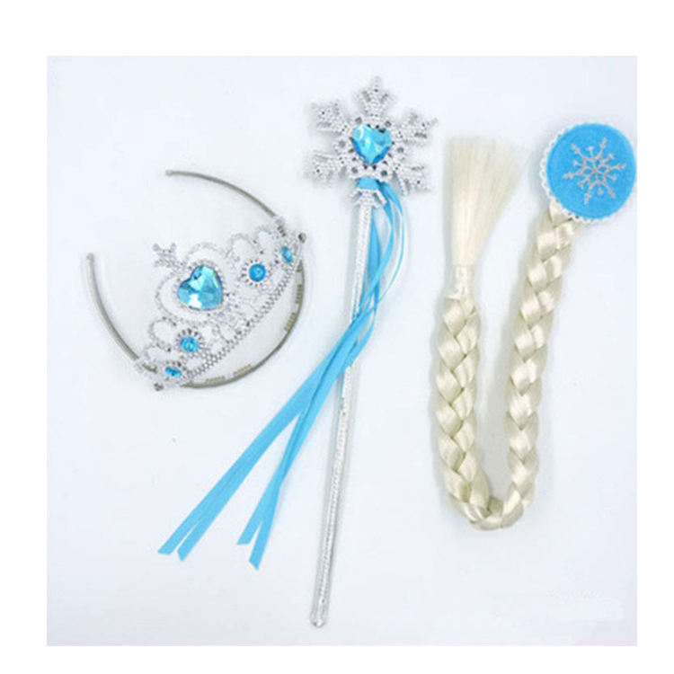 Zhejiang YiWu Wholesale elsa frozen princess set frozen elsa Tiara wand wig Set