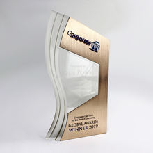 Apex customize acrylic plaque awards prize metal award trophy