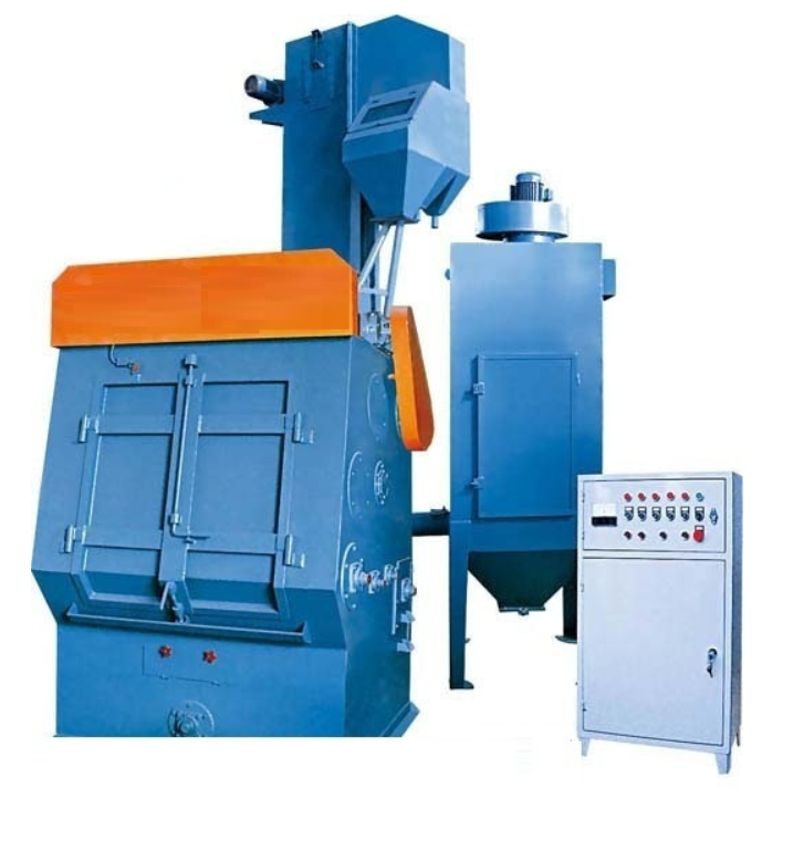 Q326 series tumblast belt type shot blasting machine for bolts and nuts cleaning