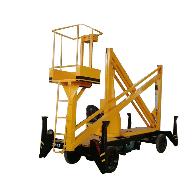 Self-drive small pickup truck mobile boom lift with Diesel power