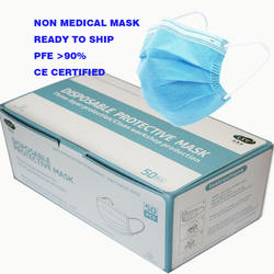 Verified Supplier Wholesale Suctom Wonwoven Disposable Medical face Mask With 3 ply