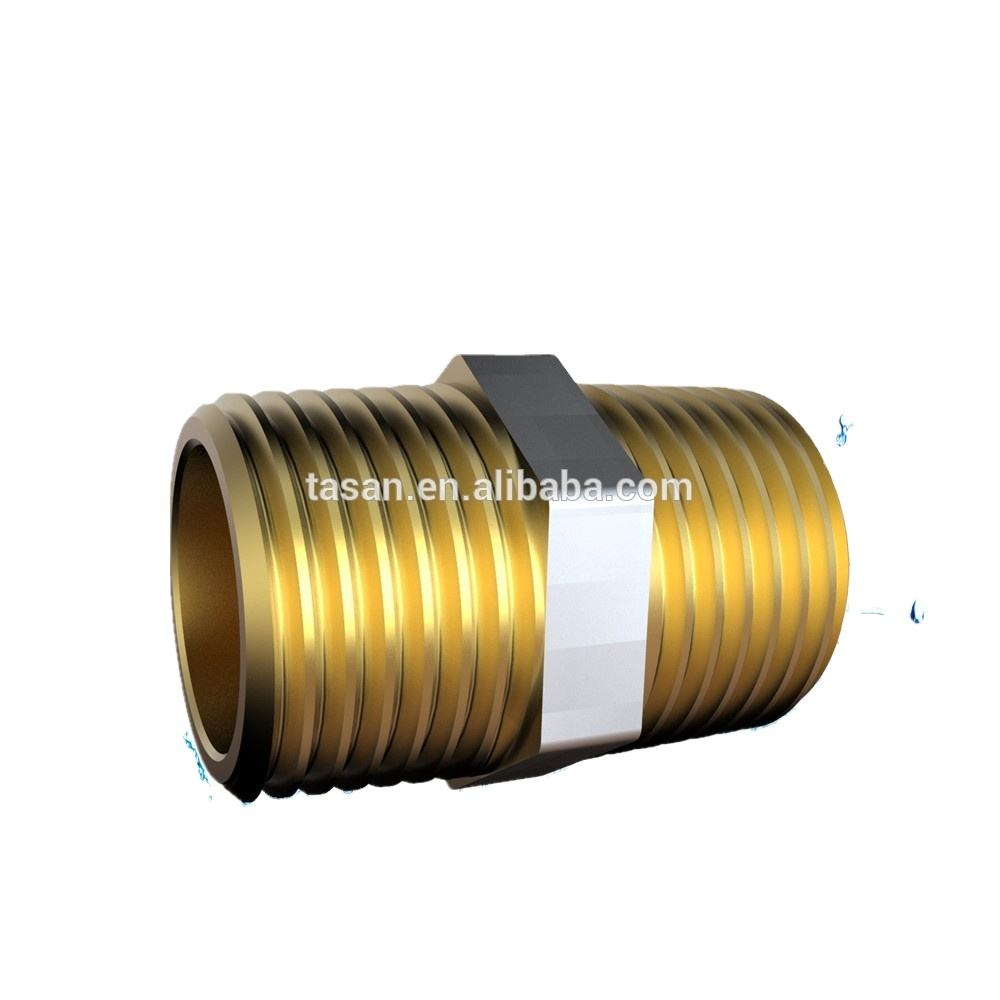 S7103 Brass copper NPT male thread Fitting nipple