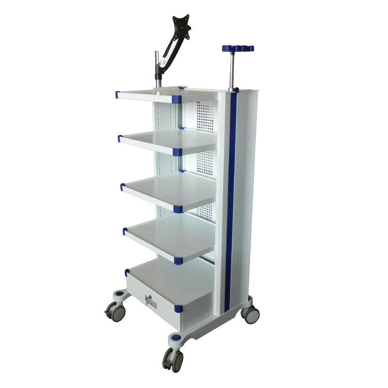 Medical 4 Layers Endoscopic Cart/Hospital Furniture Endoscope Trolley for Hospital