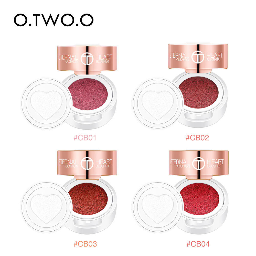O.TWO.O Beauty Cushion Blusher Cute Heart Stamp Cream Blush Long Lasting Blusher