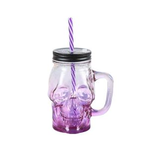 16 oz Mason Jar Mugs with Handles Old Fashioned Drinking Glass
