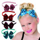 Hor Sale Colorful Sequin Bow Plastic Hairband Stylish Baby Kids Hairband Headband